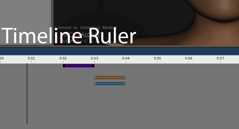 This screenshot shows the timeline ruler on the animation timeline.